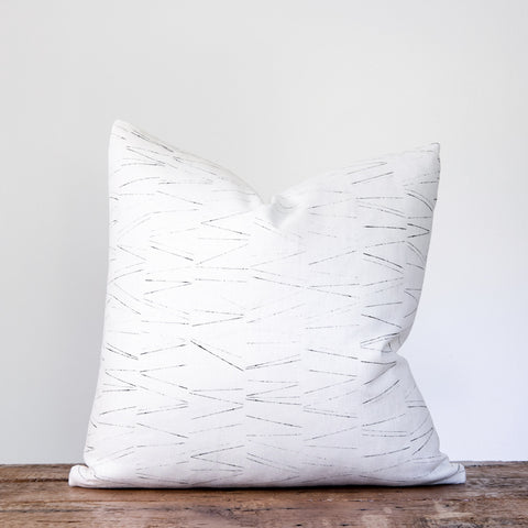 Minimal Pillow - Black on Oyster