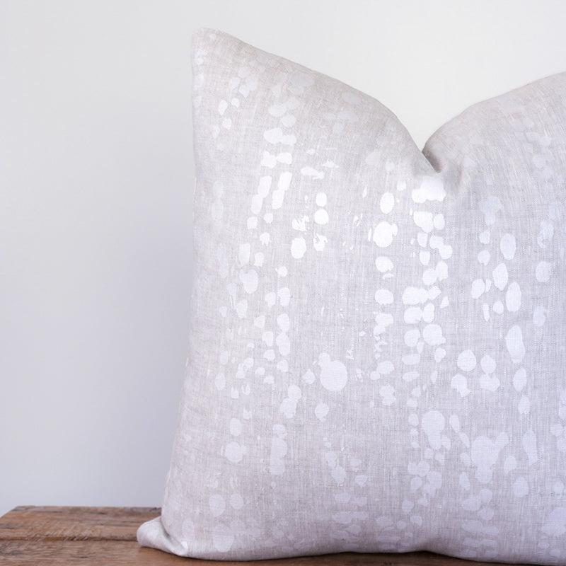 Splotches Pillow - Pearl on Oatmeal