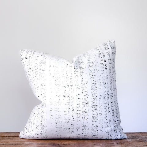 Rain Pillow - Black on Oyster
