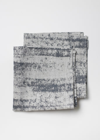 Storm Napkins - Charcoal Gray on Oatmeal