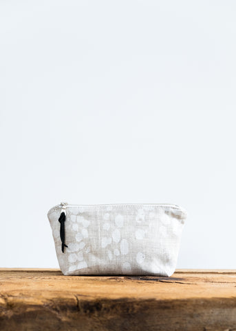 make up pouch organic pattern