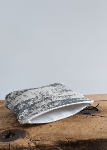 Storm Large Pouch - Charcoal Gray on Oatmeal