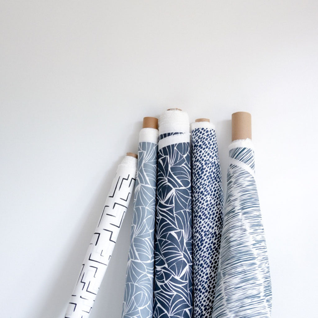 Shells in Navy Fabric