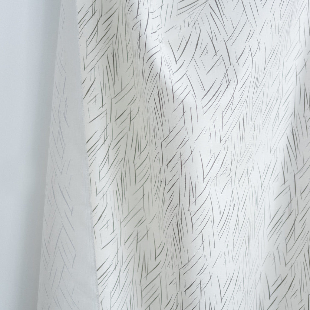Sketched Stripe Fabric - Nude on Oyster