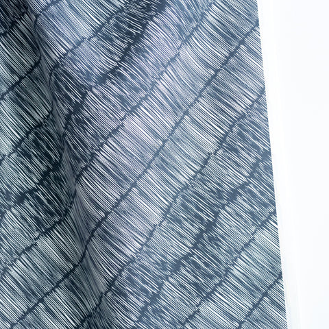 Stripes Fabric - Navy on Oyster
