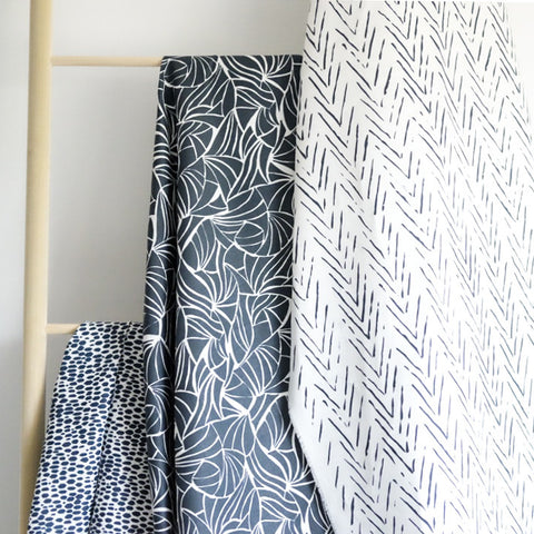 Scattered Stripe in Navy Fabric