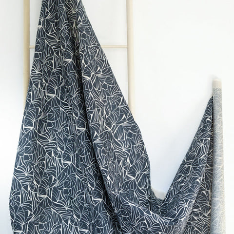 Shells in Slate Fabric