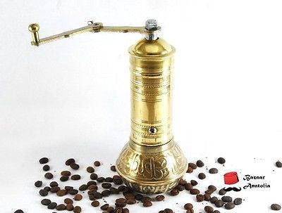 Turkish Coffee Grinder, Handmade Brass Grinder - Bazaar Anatolia  - 1