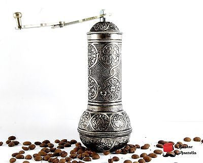Manual Spice Coffee Bean Pepper Grinder 7.5'' Stainless Steel Blade - Bazaar Anatolia  - 8