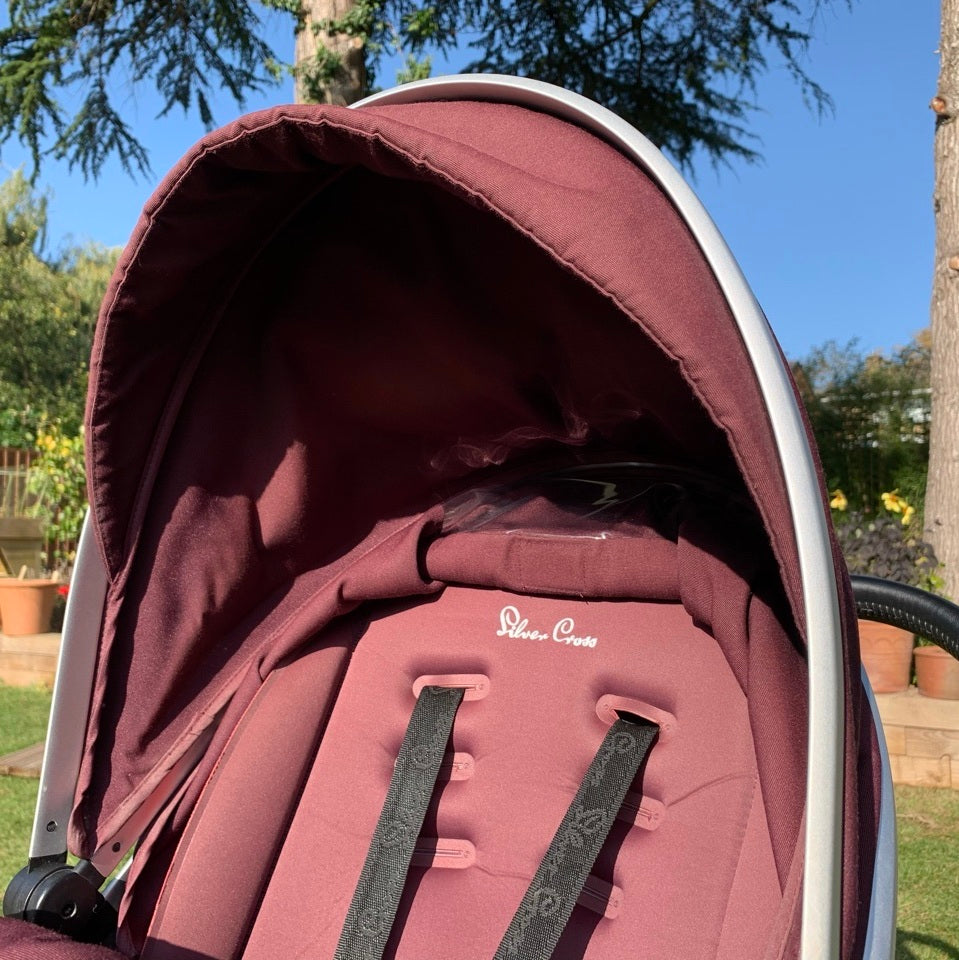 Silver Cross Surf 2 Pram & Pushchair, Aubergine - Grade 1