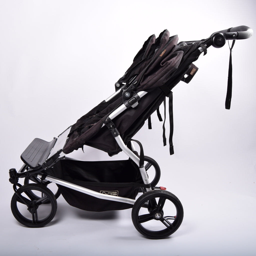 Mountain Buggy Duet V2.5 (Double/Twin Pushchair), Black - Grade 3