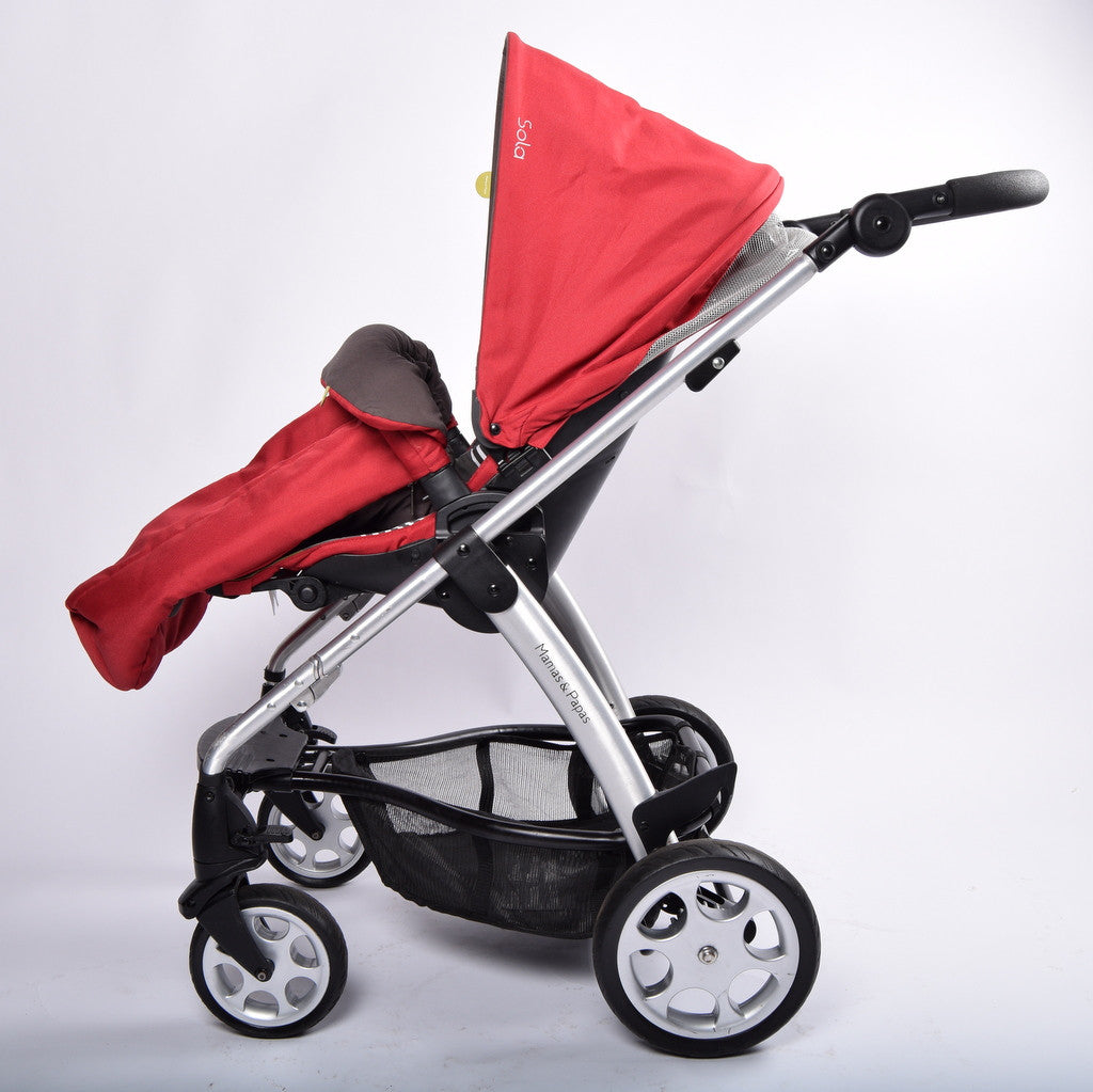 Mamas and Papas Sola 2 Pram System (including Footmuff), Red - Grade 1