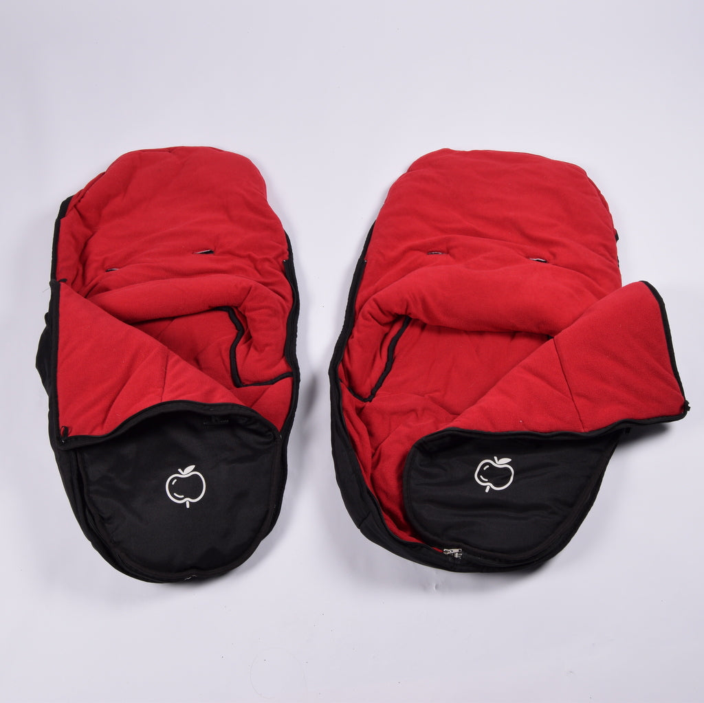 iCandy Footmuff, Black/Red x2 - Grade 1