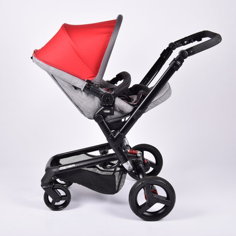 Jané Rider + Matrix Light 2 Car Seat/Carrycot, Fragment (Red) - Grade 2
