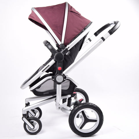 Silver Cross Surf 2 Pram & Pushchair, Aubergine - Grade 2