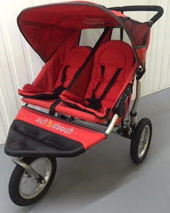 Out n About Nipper 360 Double, Red - Grade 2