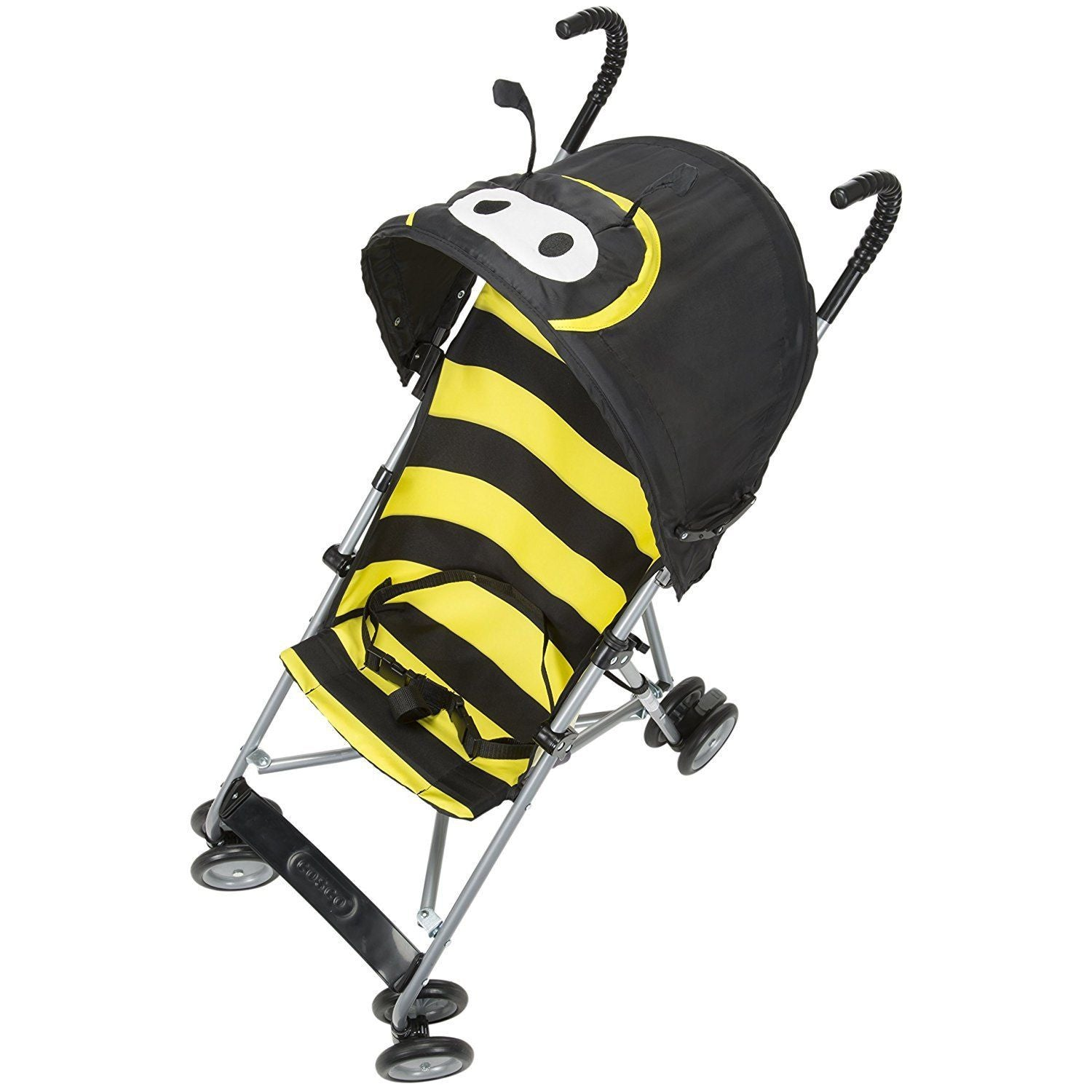 Cosco Black Umbrella Stroller, Yellow Bumble Bee - Grade 1