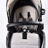 Silver Cross Surf 3 Pram System, Eton Grey LIMITED EDITION (black chassis) - Grade 1