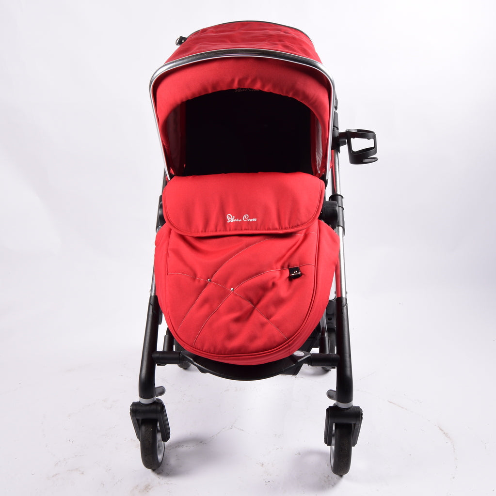Silver Cross Wayfarer Pram & Pushchair, Chilli - Grade 2