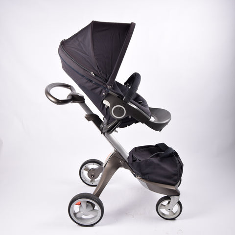 Stokke Xplory Complete V3, Dark Navy (including Winter Kit) - Grade 2