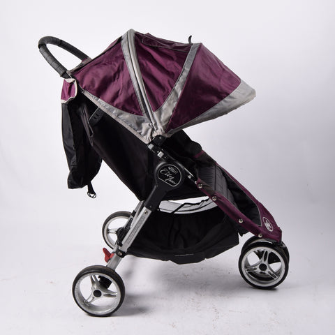 Baby Jogger City Mini (+ footmuff), Purple/Grey - Grade 2