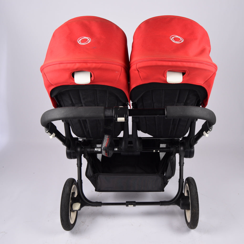 Bugaboo Donkey Twin, Black+Red, Grade 1