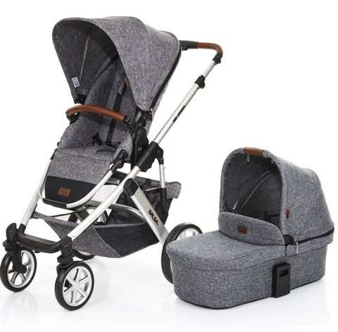 **BRAND NEW** ABC Design Salsa 4 Pushchair & Carrycot, Grey - Grade 1