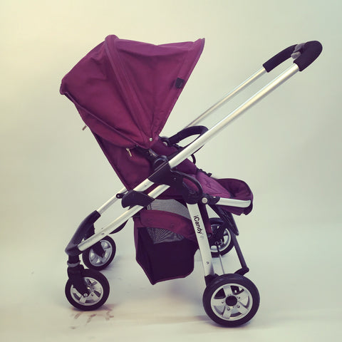 iCandy Cherry Pram & Pushchair, Mulberry - Grade 2
