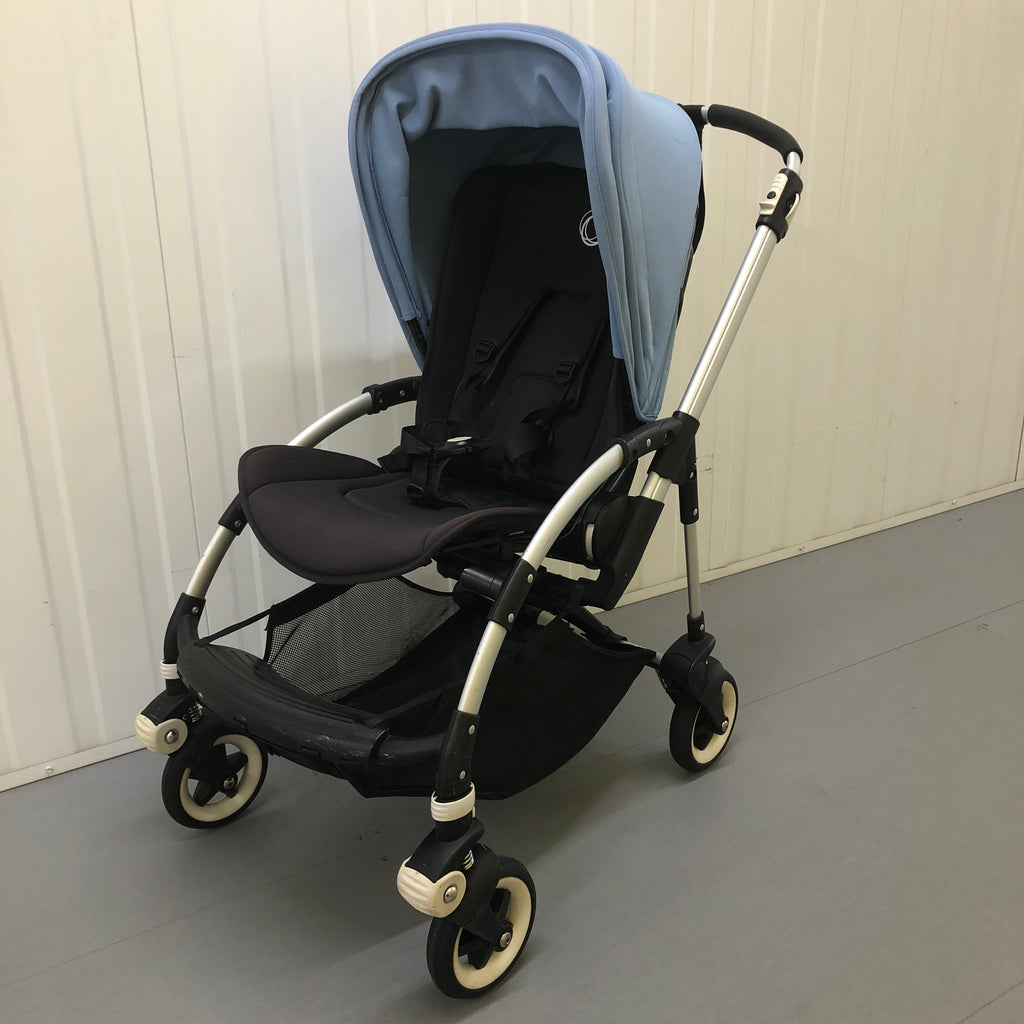 Bugaboo Bee3, Black + Ice Blue (including Ice Blue Seat Liner) - Grade 2