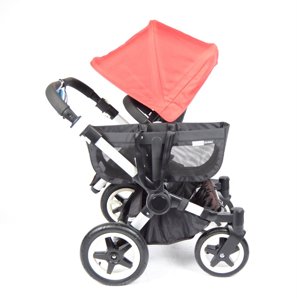 Bugaboo Donkey Duo, Black+Red (silver chassis), Grade 2