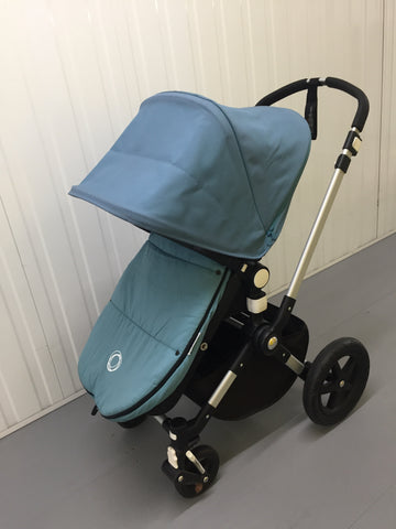 Bugaboo Cameleon3, Black+Petrol Blue (including Footmuff in Petrol Blue), Silver Chassis - Grade 1