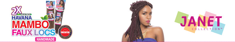 Janet Collection Synthetic Crochet Braiding Hair 2X HAVANA MAMBO FAUX LOCS