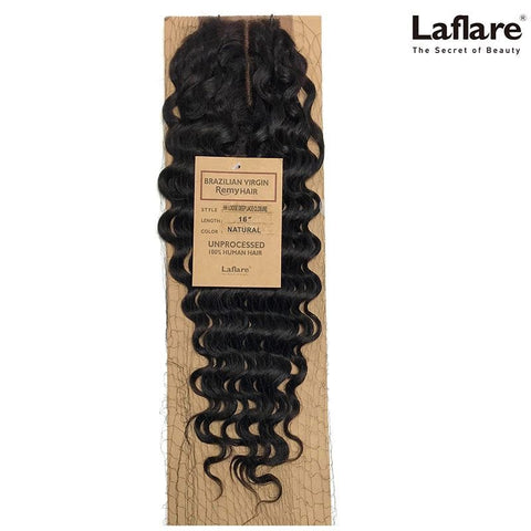 LaFlare Unprocessed Brazilian Virgin Remy Human Hair Weave LOOSE DEEP Closure