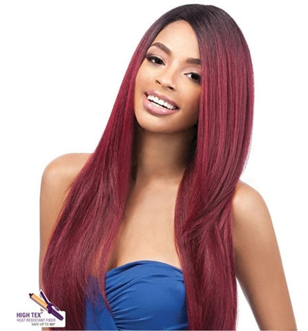 "Outre Quick Weave ECO Synthetic Wig NATURAL YAKI 24"" -LOWEST PRICE EVER!"