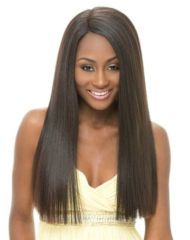 Janet Collection Natural Super Flow Synthetic Deep Part Lace Front Wig SOSIE