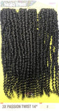 Janet Collection Nala Tress Synthetic Crochet Braid Hair 3X PASSION TWIST 14""