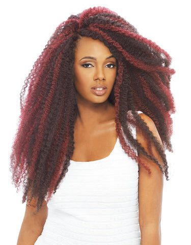 janet collection synthetic crochet braiding hair afro twist