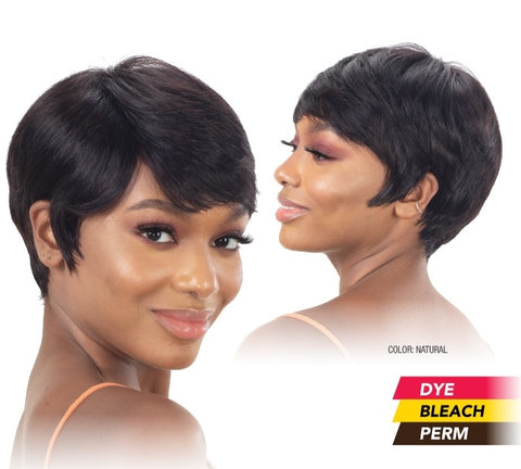Shake-N-Go Naked Brazilian Natural 100% Human Hair Wig BLADE