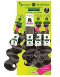 Janet Brazilian 100% Natural Virgin Remy Bundle Hair BODY with FREE Part Closure
