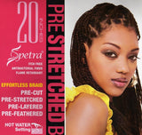 Afro Beauty 3X SPETRA PRE-STRETCHED BRAID 20""