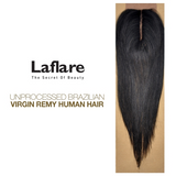 LaFlare Unprocessed Brazilian Virgin Remy Human Hair Weave Straight Closure