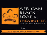 Nubian Heritage African Black Soap with Oats, Aloe & Vitamin E 5 oz.