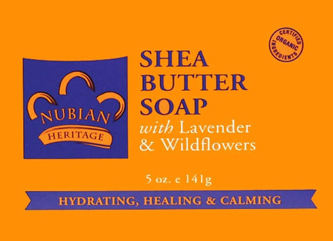 Nubian Heritage Shea Butter Soap with Lavender & Wildflowers 5 oz.