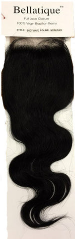 Bellatique Brazilian Virgin Remy Hair FULL LACE CLOSURE - BODY WAVE