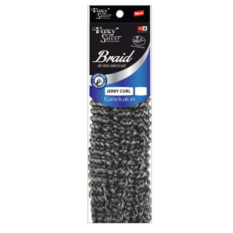 Foxy Silver Synthetic Braiding Hair JERRY CURL 12""