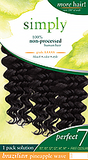 Outre SIMPLY Brazilian 100% Non-processed Weave Perfect 7 PINEAPPLE WAVE 7 PCS