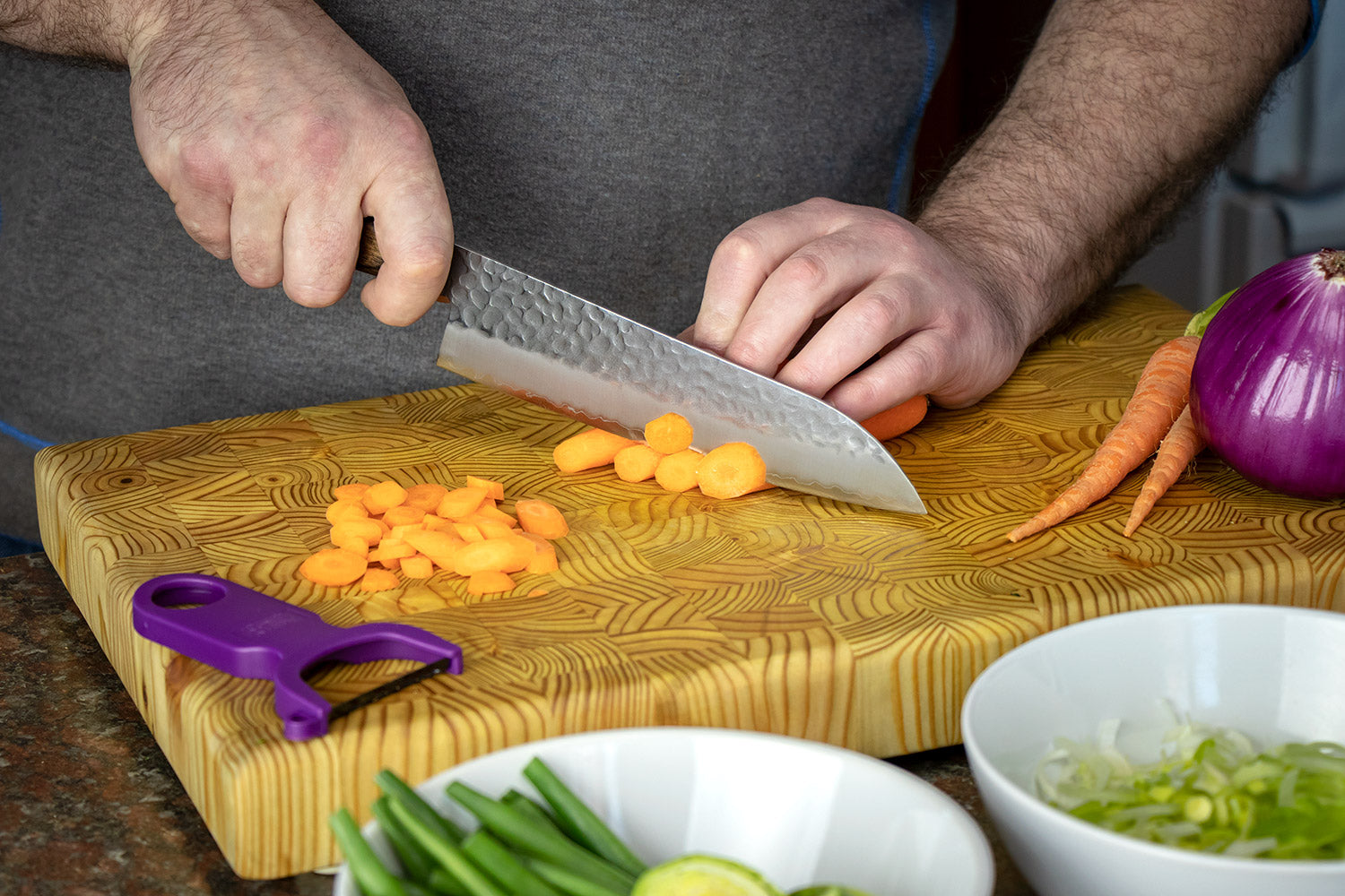 How to Use a Santoku - Knife Skills 101