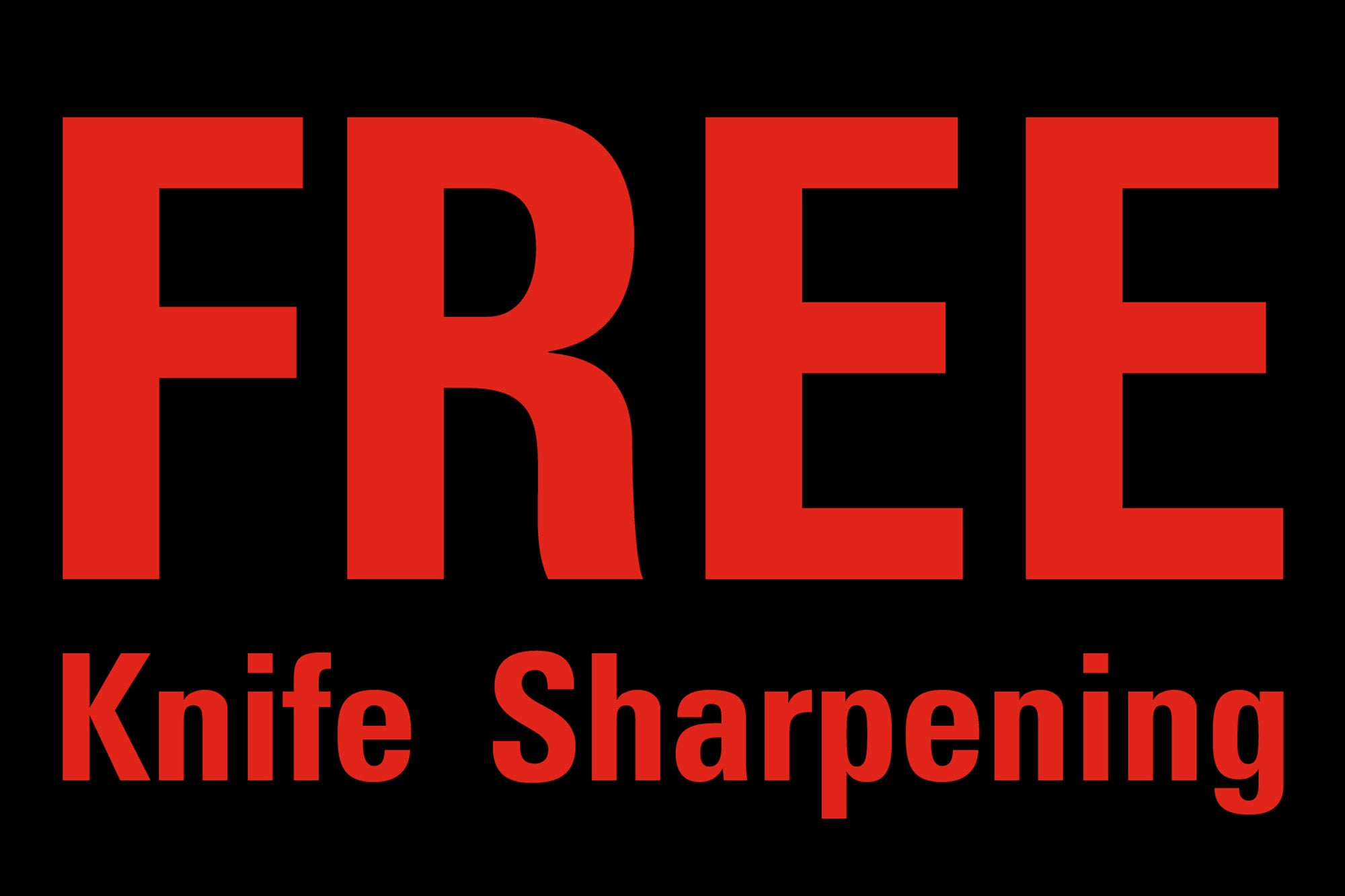 Free Knife Sharpening for Chefs at Knifewear!