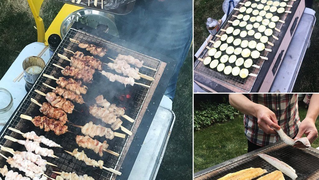 Throw another Yakitori on the Konro BBQ!