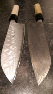Check out my Shimo Santoku alongside a brand new one! Pretty amazing huh?